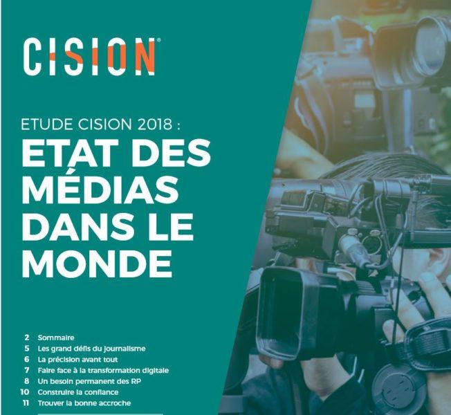 Cision - etat des médias dans le monde - 2018